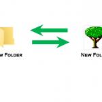 change or restore default icon