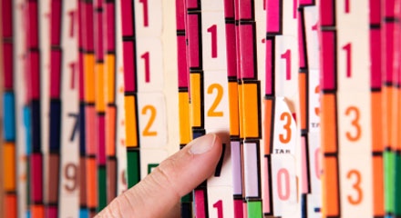 number color coded system