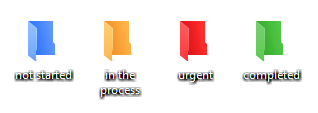 Color-coding system for My Projects folder