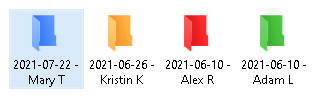 Name folders with the date of the project needed to be done + the name of the client