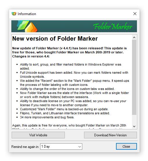 VERSION 4.5 OF FOLDER MARKER RELEASED